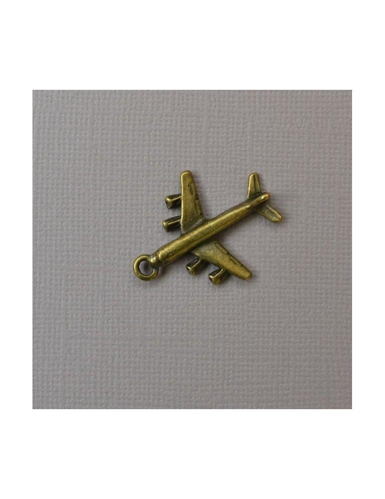 Breloque avion bronze
