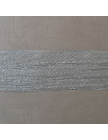 Ruban organza gris