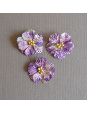 3 Fleurs violet/mauve