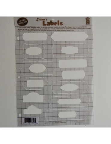 Gabarit labels format A4