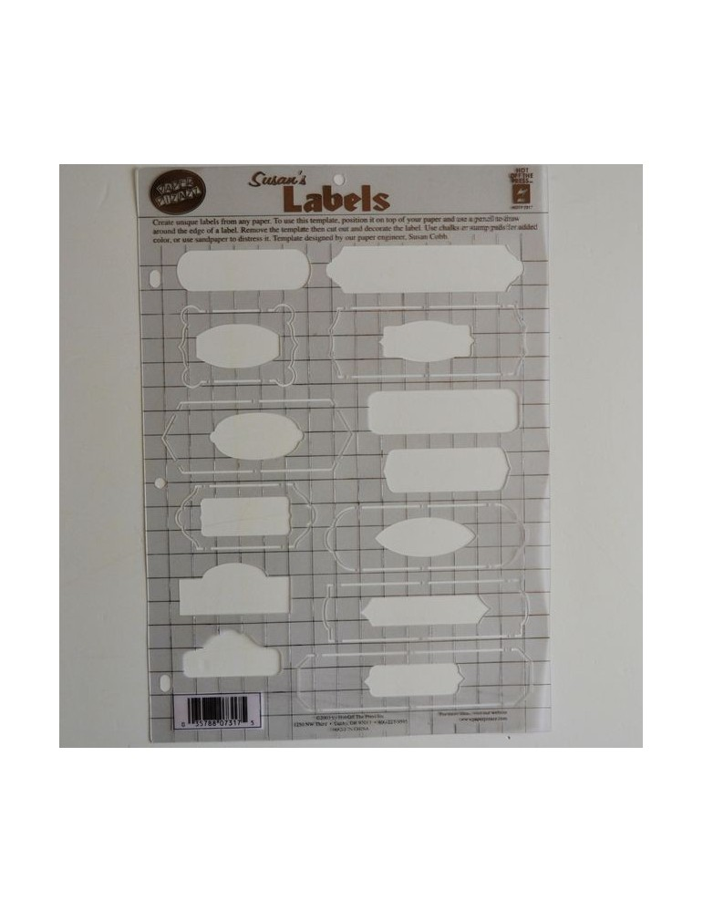 Gabarit labels format A4