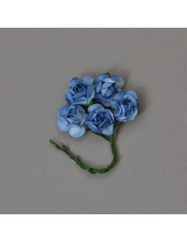 Lot de 5 Fleurs bleue