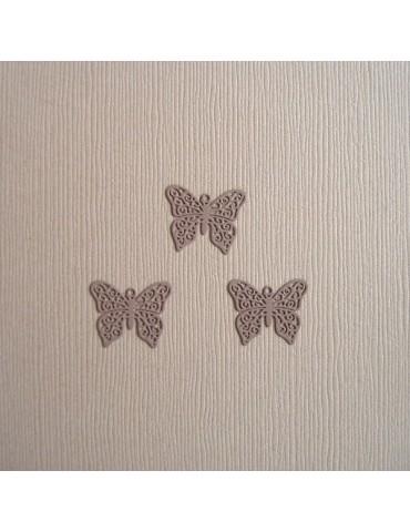 3 papillons mauve