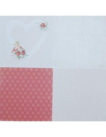 """Papier Pion Design To My Valentine 6x6 """"in my heart"""""""