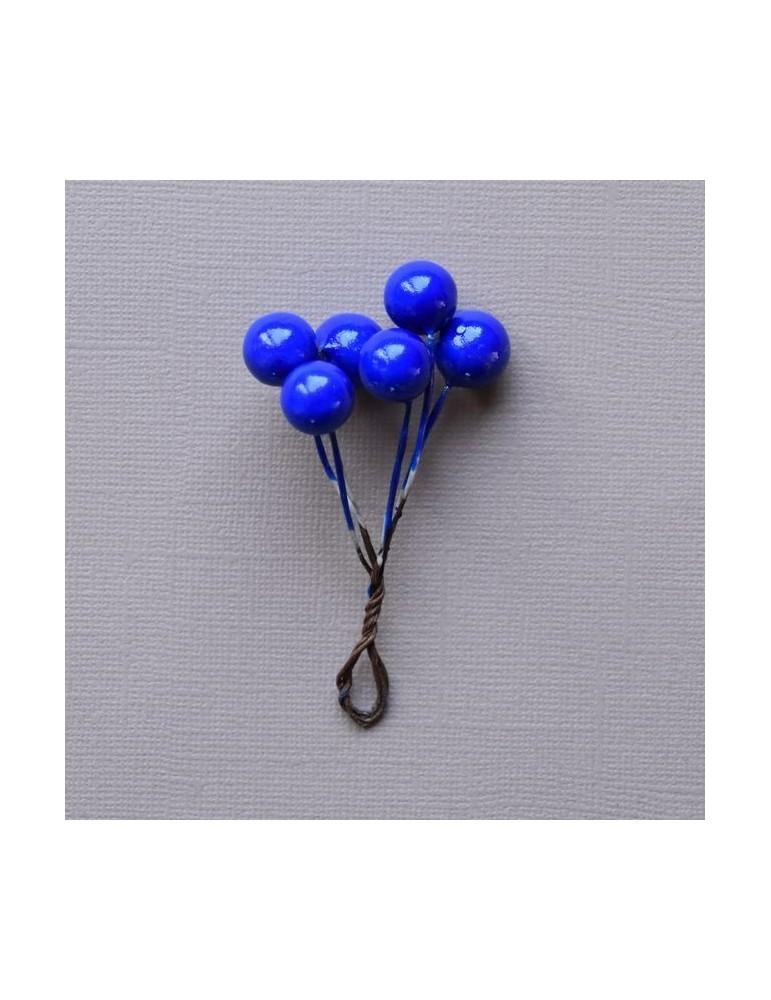 6 boules bleu pour bouquet