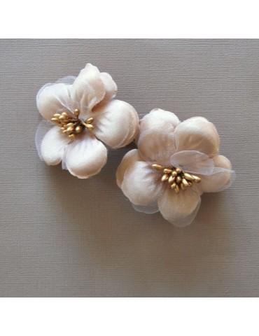 2 belles fleurs beige