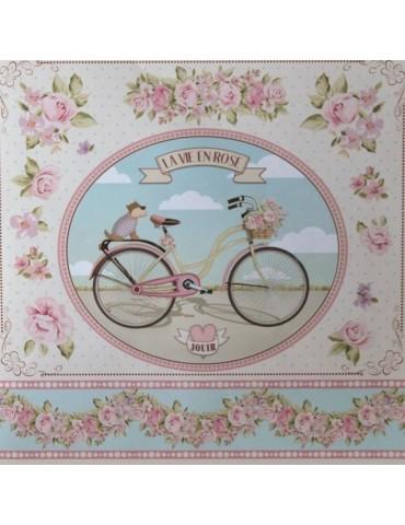 Papier découpage La vie en rose