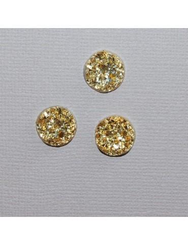Cabochons dorés 1cm