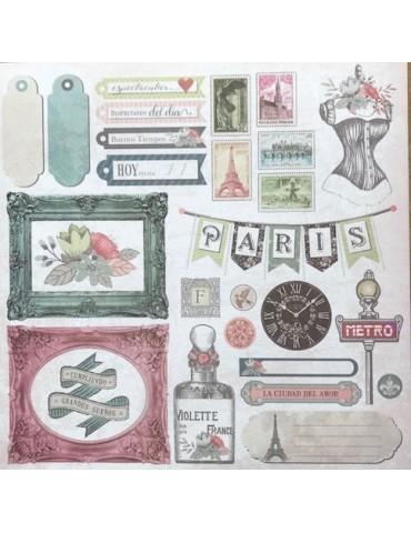 Papier Bonjour Paris Texturarte