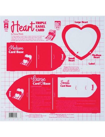 Gabarit Heart triple easel...
