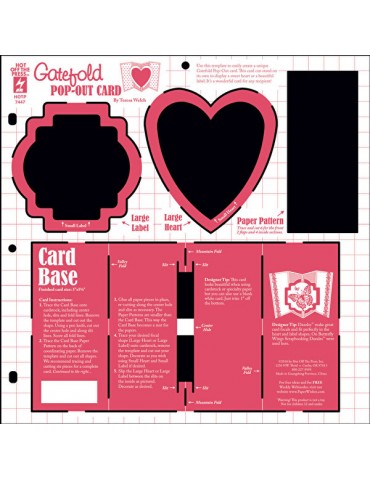 Gabarit Heart Label pop out...