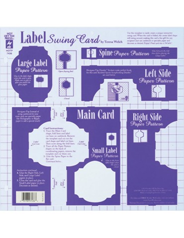 Gabarit Label Swing Card