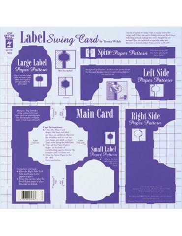 Gabarit Label Swing Card