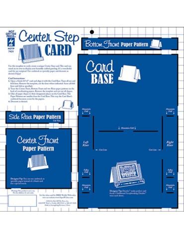 Gabarit Center Step Card