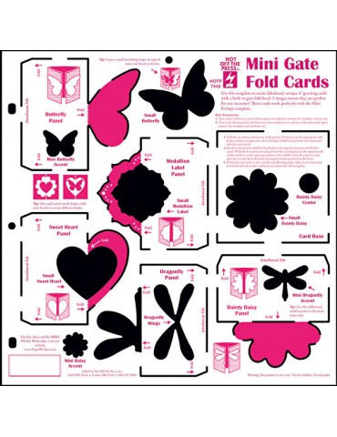 Gabarit Mini Gate Fold Cards