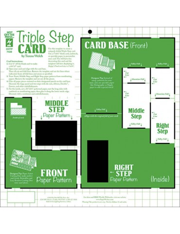 Gabarit Triple Step Card