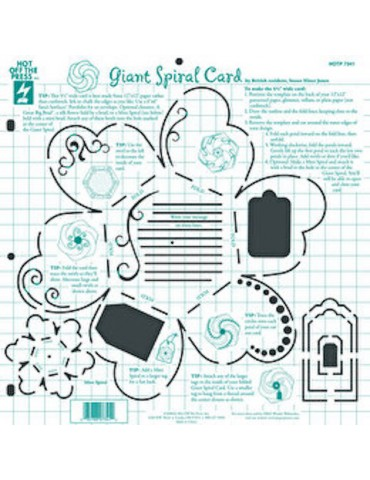 Gabarit Giant Spiral Card