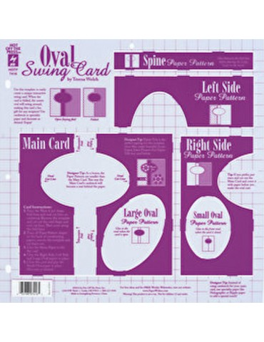 Gabarit Oval Swing Card