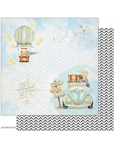 Papier Litoarte Voyage bleu