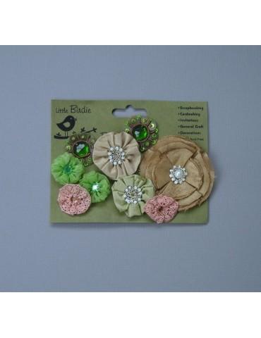 assortiment de fleurs en tissus