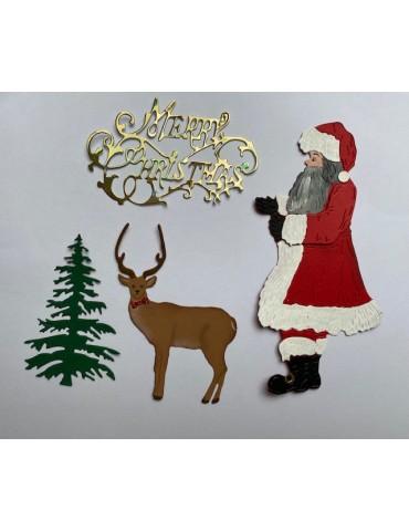 Grand père Noël rouge