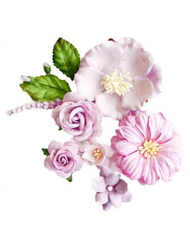 Lot de fleurs mauves Carina...