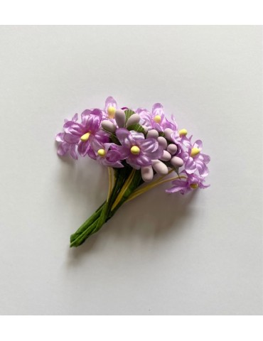 Bouquet de fleurs mauves