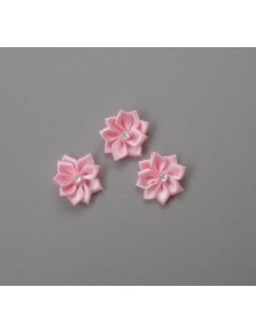 3 fleurs en tissus