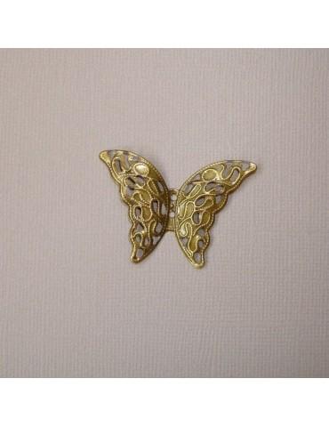 Papillon metal doré