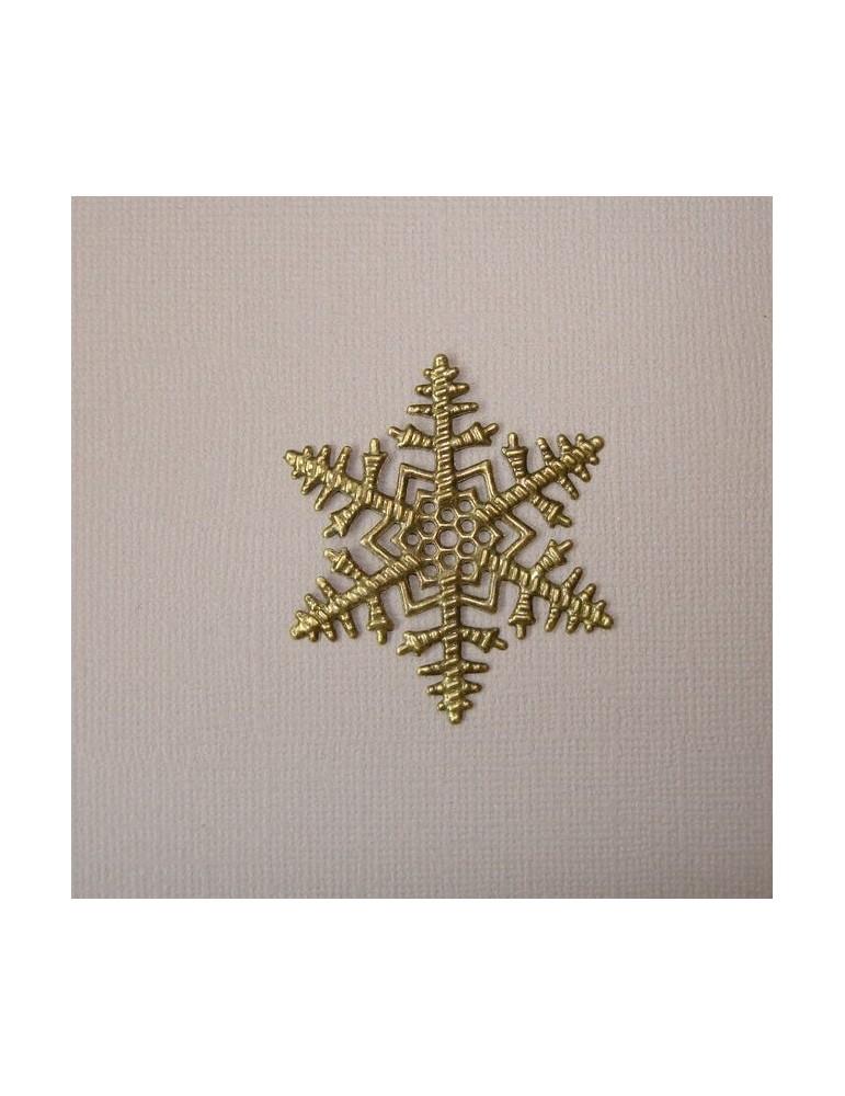 Flocon de neige en métal cuivre