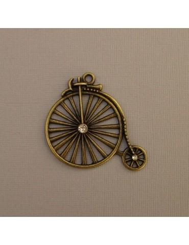 Vélo ancien cuivré