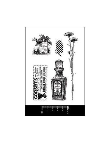 Tampon parfum,corset,fleur