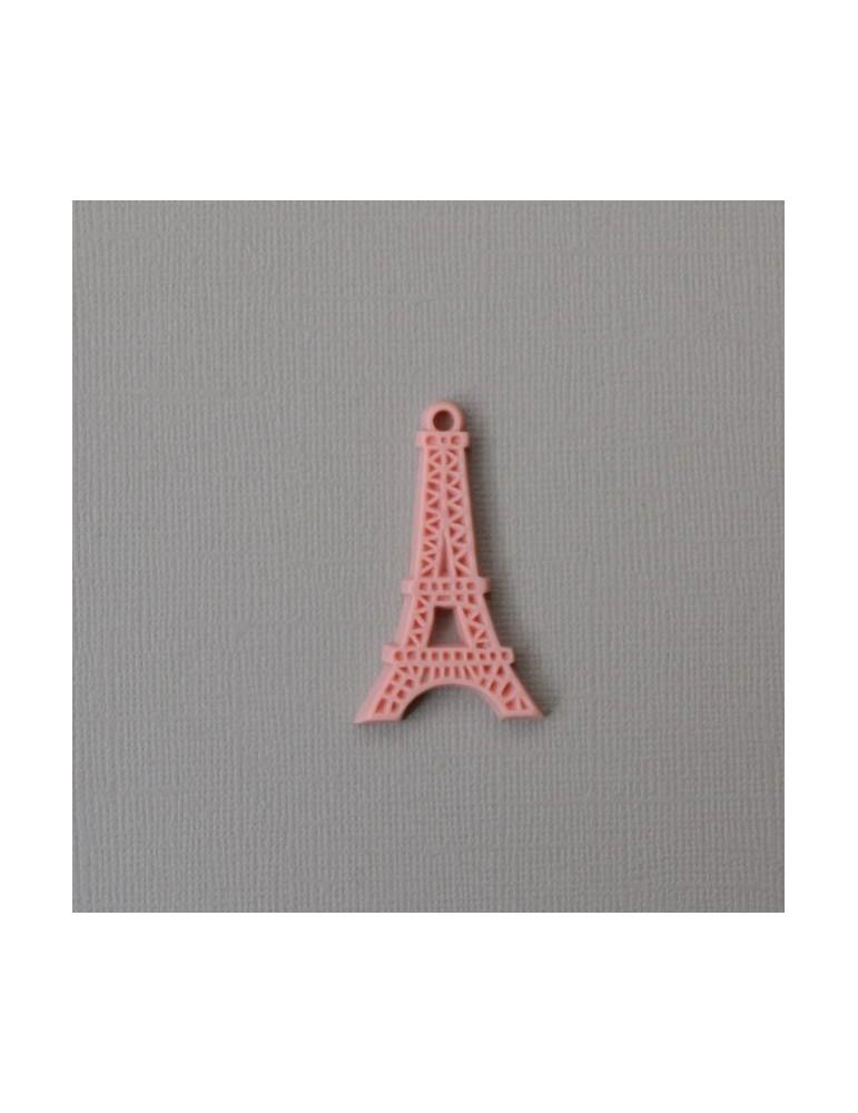 Tour Eiffel en résine rose