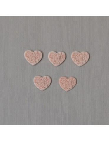 petits coeurs dessin rose